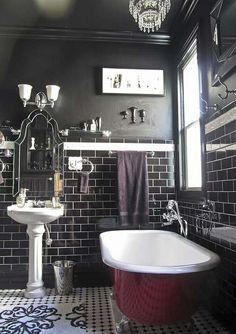 Salle de bains originale à l'inspiration rétro éclectique