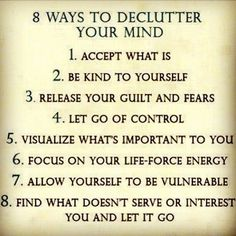 8 ways to declutter the mind