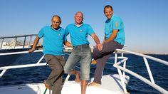Ahmed, DIKO und Moumen - die Tauchlehrer der Freedom Divers Safaga