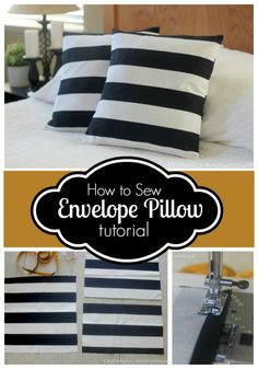 Easy Envelope Pillow cover tutorial. Whips up in 15 minutes! #pillow #tutorial