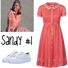 Grease Inspired Outfits #2: Sandy #1 by pkmnmaster24601 on Polyvore featuring Orla Kiely and A.P.C.