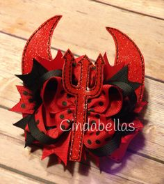 Little Devil Halloween Boutique Hair Bow by CindabellasBoutique on Etsy