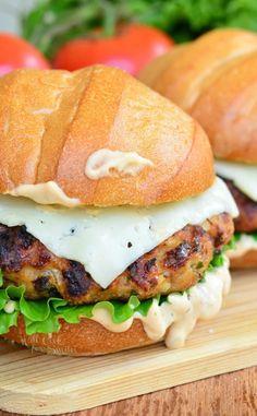 Spicy Chipotle Chicken BurgerReally nice recipes. Every  Mein Blog: Alles rund um die Themen Genuss & Geschmack  Kochen Backen Braten Vorspeisen Hauptgerichte und Desserts # Hashtag