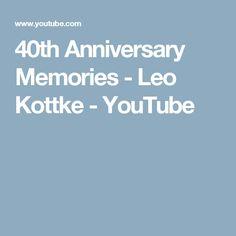 40th Anniversary Memories - Leo Kottke - YouTube
