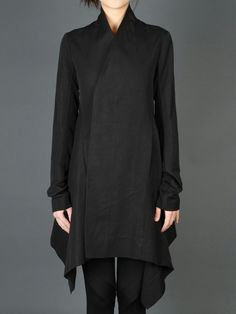 black draped jacket asymmetrical style, Rick Owens