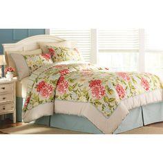 Better Homes and Gardens Peony Bedding Comforter Set - I've ordered this for my bedroom! Reversible comforter, shams, bedskirt.