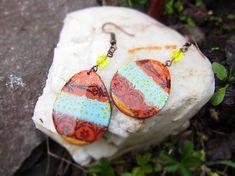 Atelier-Muza / Náušnice tyrkysová čipka Earrings Handmade, Jewerly, Atelier, Jewlery, Schmuck, Jewelry, Jewels, Jewelery, Fine Jewelry
