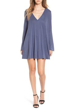 Lush Bell Sleeve V-Neck Knit Dress by womens-dresses