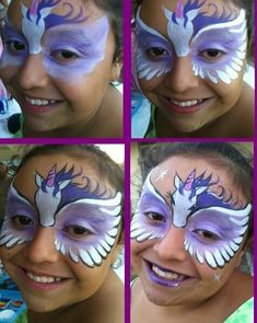 Step-by-Step Pegasus Face Paint #stepbystepfacepainting