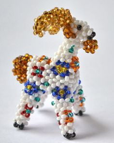 Goat 3D Beading Pattern by Katherina Kostinsky at Bead-Patterns.com