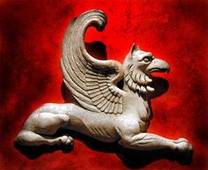Persian Art - The griffin appears in a lot of Persian art. The griffins symbolize the domination of earth and sky.