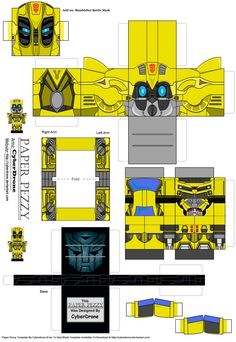 Paper Pezzy- Bumblebee 'LAM' by CyberDrone.deviantart.com on @deviantART