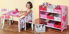 Set Kinderspieltisch Kesper mit 2 Stühlen & Aufbewahrungsregal Motiv HERZEN 2014