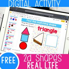 Perfect for distance learning- No printer needed Shape Activities Kindergarten, 2d Shapes Activities, Subtraction Activities, Teaching Shapes, Classroom Activities, Learning Activities, Kindergarten Curriculum, Indoor Activities, Summer Activities