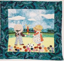 サンボンネットスー/Sunbonnet Sue/Applique Quilt