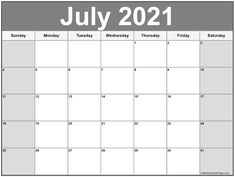 July 2021 calendar | free printable calendar templates