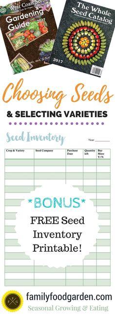 Garden Planning: Choosing Your Seeds