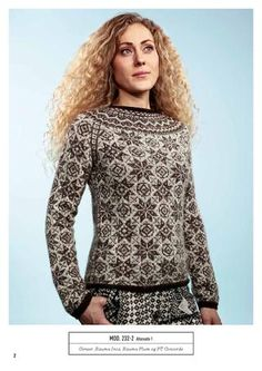 Knitted sweater - design by Bente Presterud for Rauma Garn Punto Fair Isle, Fair Isle Pullover, Knitting Machine Patterns, Fair Isle Pattern, Knitting Magazine, How To Purl Knit, Fair Isle Knitting, Sweater Shop, Sweater Design