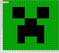 Serendepity, Minecraft Creeper Crochet Pattern by simone Pixel Crochet, C2c Crochet, Tapestry Crochet, Crochet Squares, Crochet Chart, Crochet For Kids, Crochet Stitches, Granny Squares, Minecraft Blanket