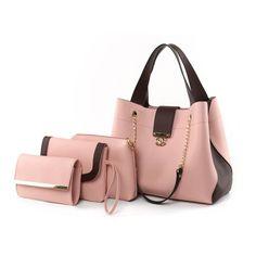 Delight 4-in-1 Satchel Bag - Pink 4 In 1, The 4, Satchel Bag, Pu Leather, Royalty, Shoulder Bag, Handbags, Pink, Royals