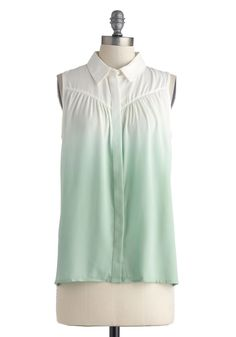 Make Mine Mint Top | Mod Retro Vintage Short Sleeve Shirts | ModCloth.com