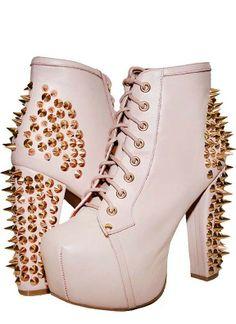 Envi Shoes Jeffrey Campbell Lita Spike Rose Nude $157.47