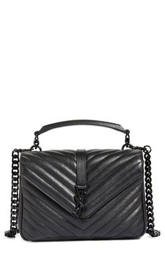 3ca3656510 SAINT LAURENT  Medium College  Quilted Leather Shoulder Bag.  saintlaurent   bags