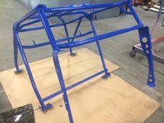 Custom Roll Cage Powder Coated Blue