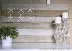 Coastal decor pallet flag