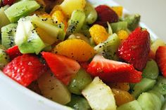 Just Another Day in Paradise: Honey Lime Fruit Salad