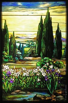 Landscape with Yellow Sky - Louis Comfort Tiffany
