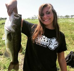 Reel Girls Fish with a Nice Largemouth Bass. Decoy Outdoors High Performance Fishing Gear.
