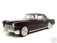 Click Image Above To Purchase: 1956 Lincoln Continental Mark 2 Diecast Model Black 1/18 Die Cast Car By Yat Ming