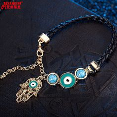 2017 Time-limited Sale Lobster Trendy Zinc Chain & Link Bracelets Fashion Plating Mixed Hand Charms Leather Rope Bracelet