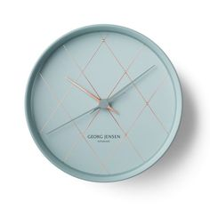 clock minimalist blue georg jensen watch copper gold