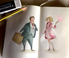 Notes and sketches | Jacob and Queenie by SimonaBonafiniDA on DeviantArt