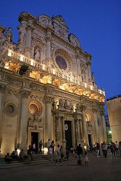 La Basilica of Santa Croce in Lecce - 17th century Baroque architecture - Apulia, Italy