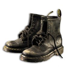 Worn out Dr Martens.