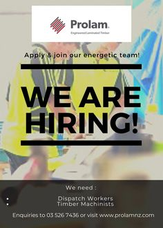 APPLY AND JOIN OUR ENERGETIC TEAM