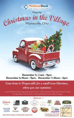 Christmas in the Village, Waynesville Ohio! December 5-7!