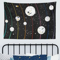 Planets in Outer Space Kids Wall Tapestry - Project Nursery Boys Room Decor, Playroom Decor, Kids Decor, Kids Room, Wall Decor, Outer Space Nursery, Space Themed Nursery, Kid Spaces, Space Kids