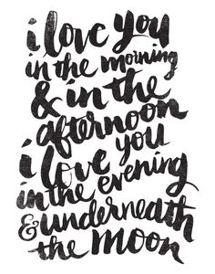 Brush lettering print perfect for Valentine's day-Society6
