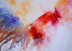 The Magic of Watercolour Painting Virtual Gallery - Jean Haines, Artist - Cockerels