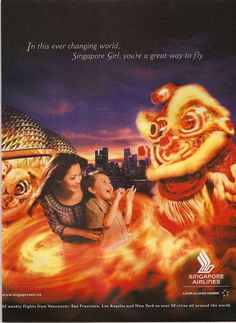 I love Singapore Airlines advertisements