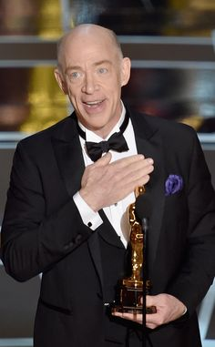 J.K. Simmons Wins Best Supporting Actor at the Oscars, Reminds Us to Call Our Mom and Dad!  JK Simmons, 2015 Academy Awards Oscars, Acceptance