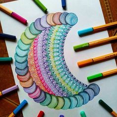 Hi guys! This is my new drawing for today 😊 and I wanna hear from you, what makes you love drawing? Can you share it to me? Mandala Art Lesson, Mandala Doodle, Mandala Artwork, Mandala Drawing, Doodle Art Designs, Doodle Patterns, Zentangle Patterns, Zentangles, Dibujos Zentangle Art