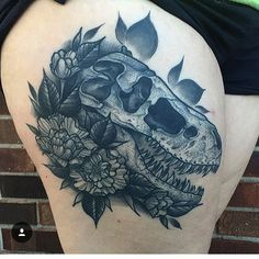 Stunning healed dinosaur tattoo by @tattoosbyjes  #dinosaurtattoo…                                                                                                                                                                                 More