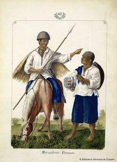 Mercaderes Ilocanos. Lozano, José Honorato 1821- — Dibujo — 1847
