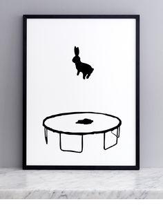 Bouncing Rabbit Screen Print