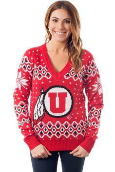 Women's College Christmas Sweater: University of Utah. Go Utes!